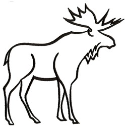 Moose Outline embroidery design
