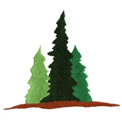 Three Evergreens embroidery design