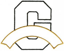 Athletic Banner G embroidery design