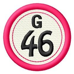 Bingo G46 embroidery design