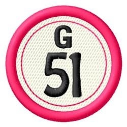 Bingo G51 embroidery design
