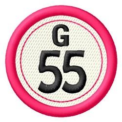 Bingo G55 embroidery design