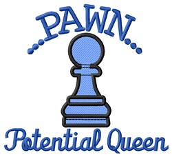 Potential Queen embroidery design
