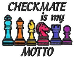 Checkmate Motto embroidery design