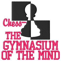 Gymnasium of the Mind embroidery design