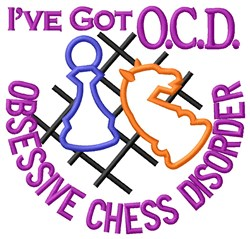 Obsessive Chess Disorder embroidery design