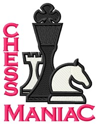 Chess Maniac embroidery design