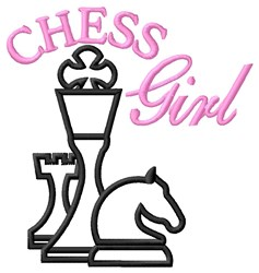 Chess Girl embroidery design