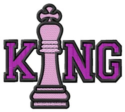 King Chess Piece embroidery design