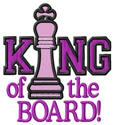 King of the Board embroidery design