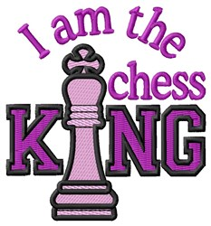 The Chess King embroidery design