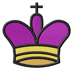 Chess King Crown embroidery design