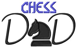 Chess Dad embroidery design
