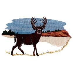 Deer Scene embroidery design