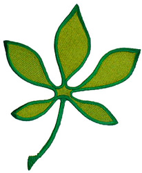 Ohio Buckeye Leaf embroidery design