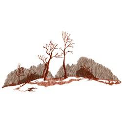 Winter Tree Scene embroidery design