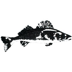Walleye Silhouette embroidery design