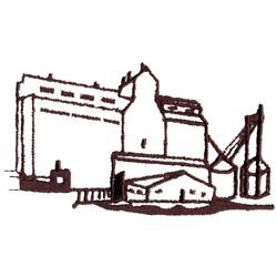Grain Elevator embroidery design