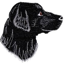 Black Lab Head embroidery design