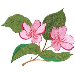 Apple Blossoms embroidery design
