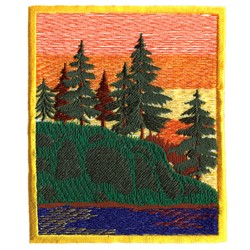 Woods & Water Scene embroidery design