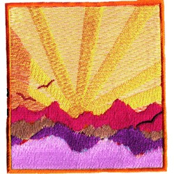Mountain Sunrise embroidery design