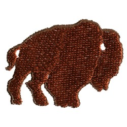 Buffalo Silhouette embroidery design