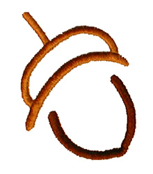 Abstract Acorn embroidery design