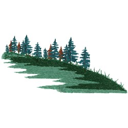 Evergreen Scene embroidery design