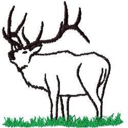 Elk Outline embroidery design
