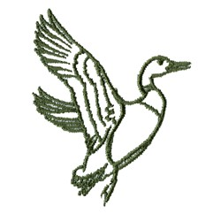 Duck Outline embroidery design