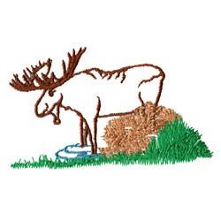 Moose Scene Outline embroidery design