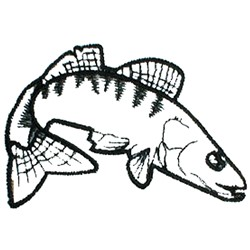 Hawkfish Outline embroidery design