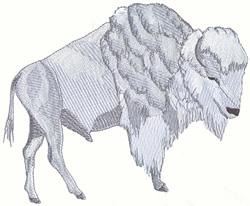 White Buffalo embroidery design