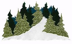 Winter Trail Scene embroidery design