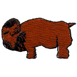 Buffalo embroidery design