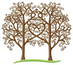 Heart Trees embroidery design