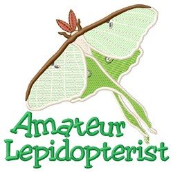 Lepidopterist embroidery design