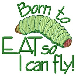 I Can Fly embroidery design