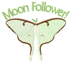 Moon Follower embroidery design