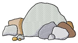 Rocks Pile embroidery design