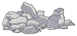 Boulders embroidery design
