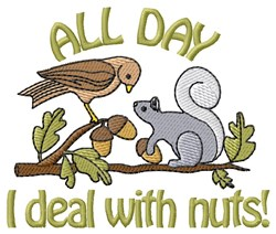 Squirrel And Nuts embroidery design