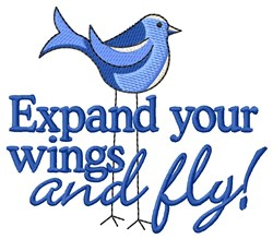 Expand Your Wings embroidery design