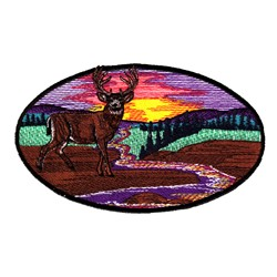 Deer Sunset  embroidery design