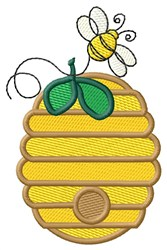 Beehive embroidery design