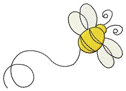Lined Bee embroidery design