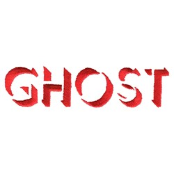 Ghost 0 embroidery design