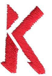 Ghost K embroidery design
