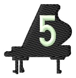 Grand Piano 5 embroidery design